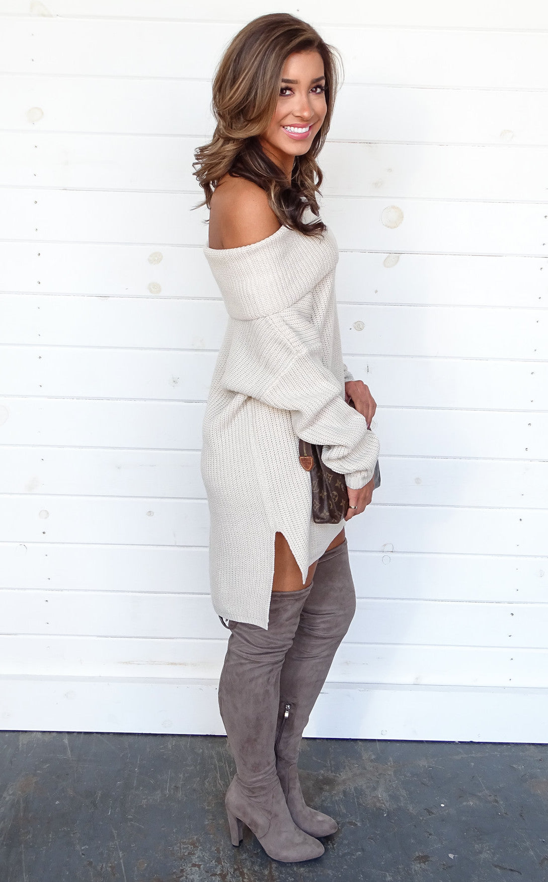 PORTS TUNIC SWEATER - NATURAL