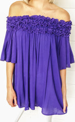 OFF THE SHOULDER TUNIC - PURPLE