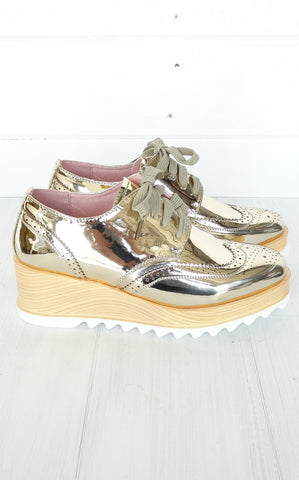 PLATFORM OXFORDS - GOLD