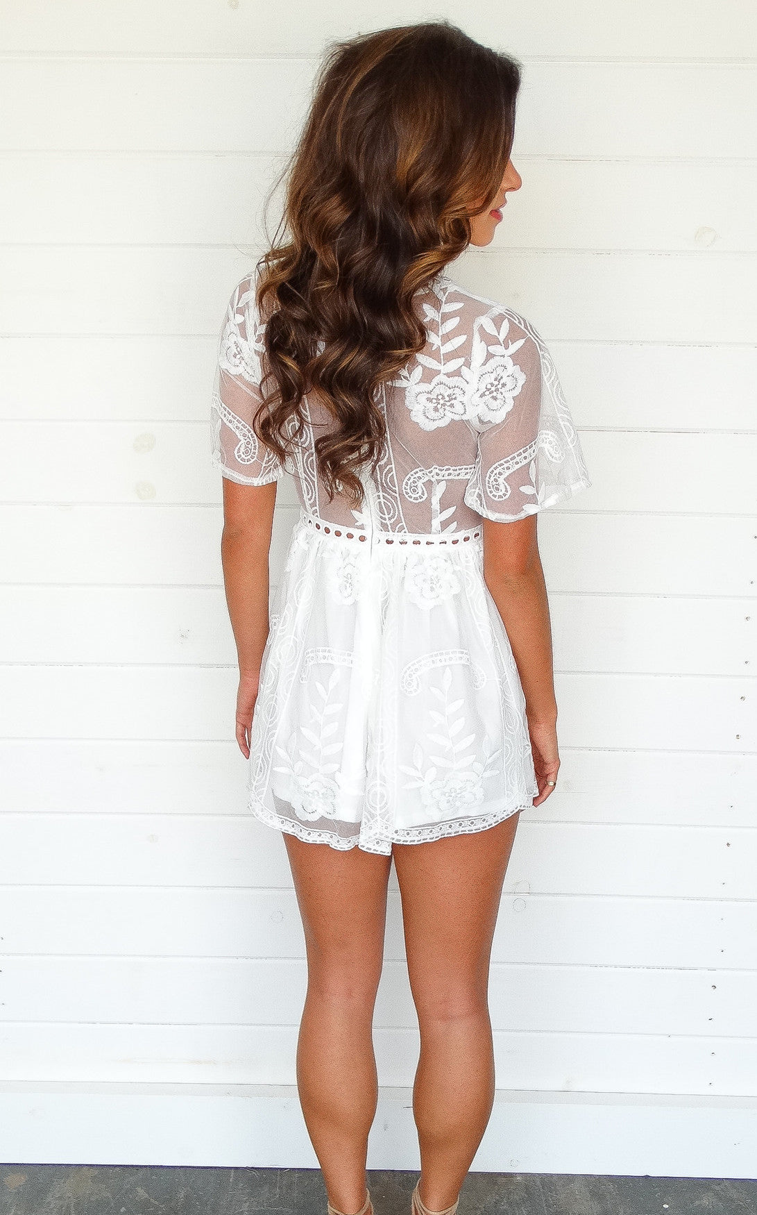 SAUSALITO ROMPER - IVORY