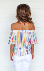 WATERCOLOR OFF THE SHOULDER