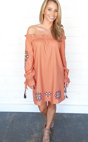 ELSIE OFF THE SHOULDER DRESS