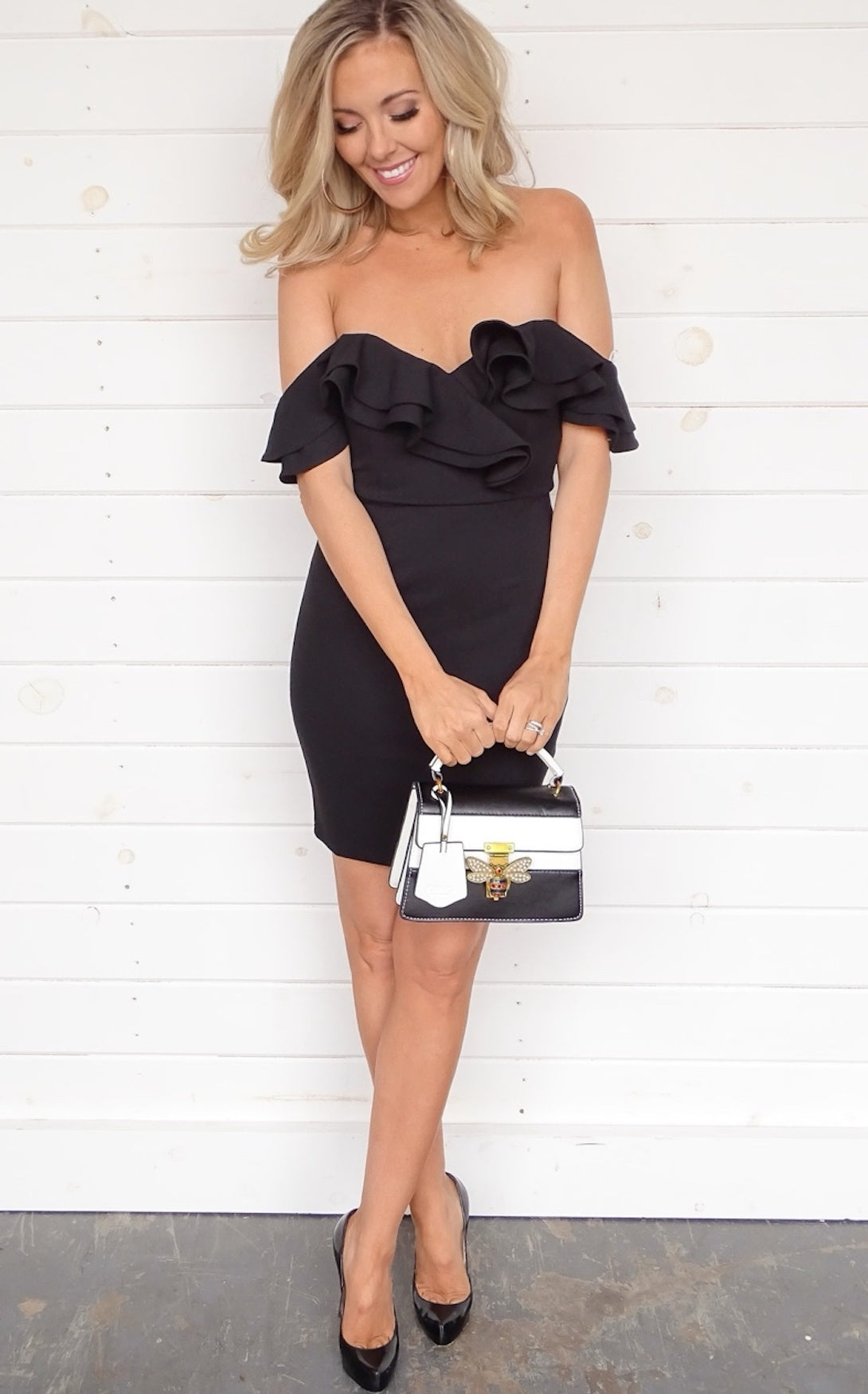 ISA RUFFLE DRESS