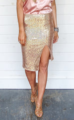 SEQUIN SKIRT - SUNRISE
