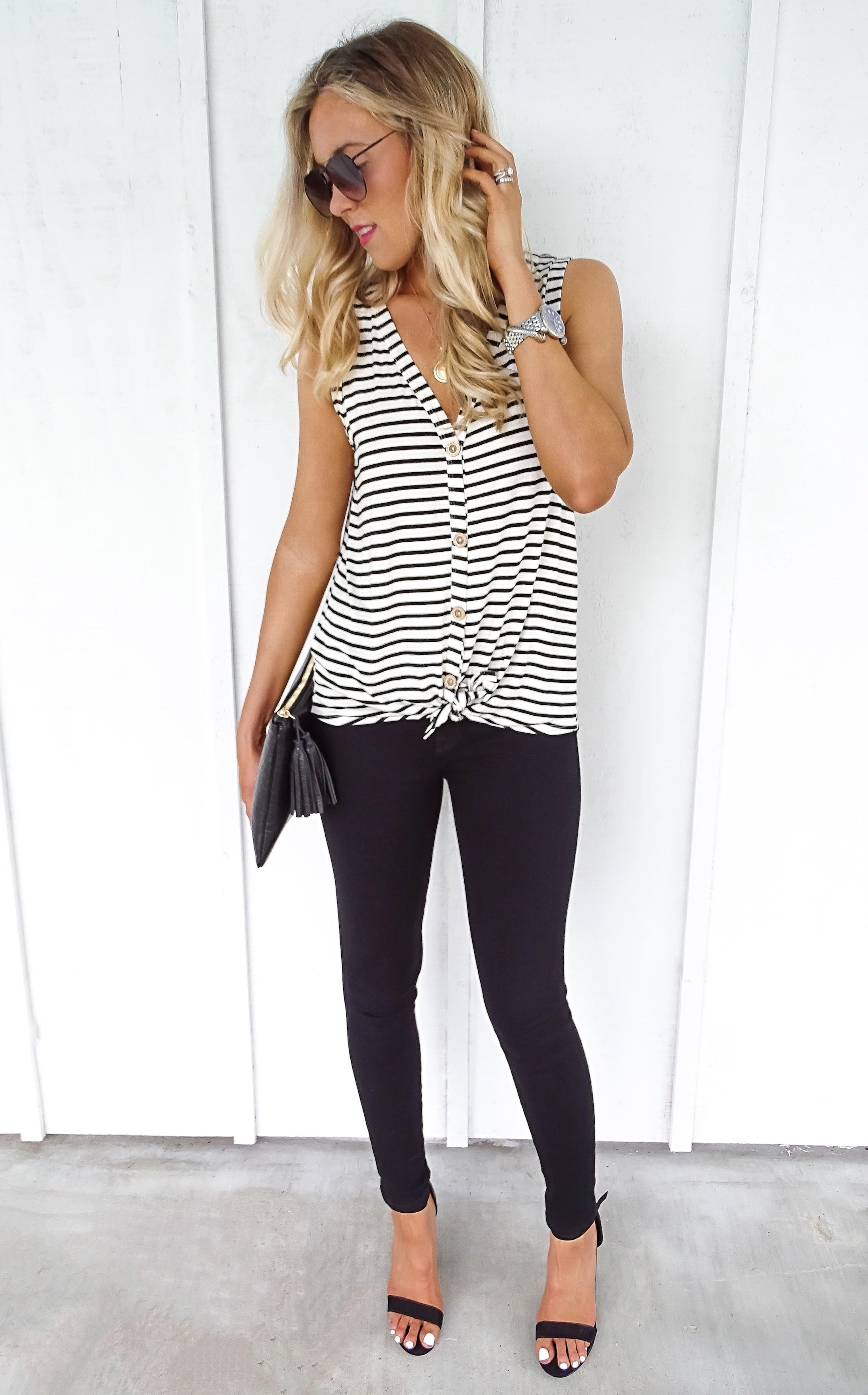 NIKKI STRIPE TOP