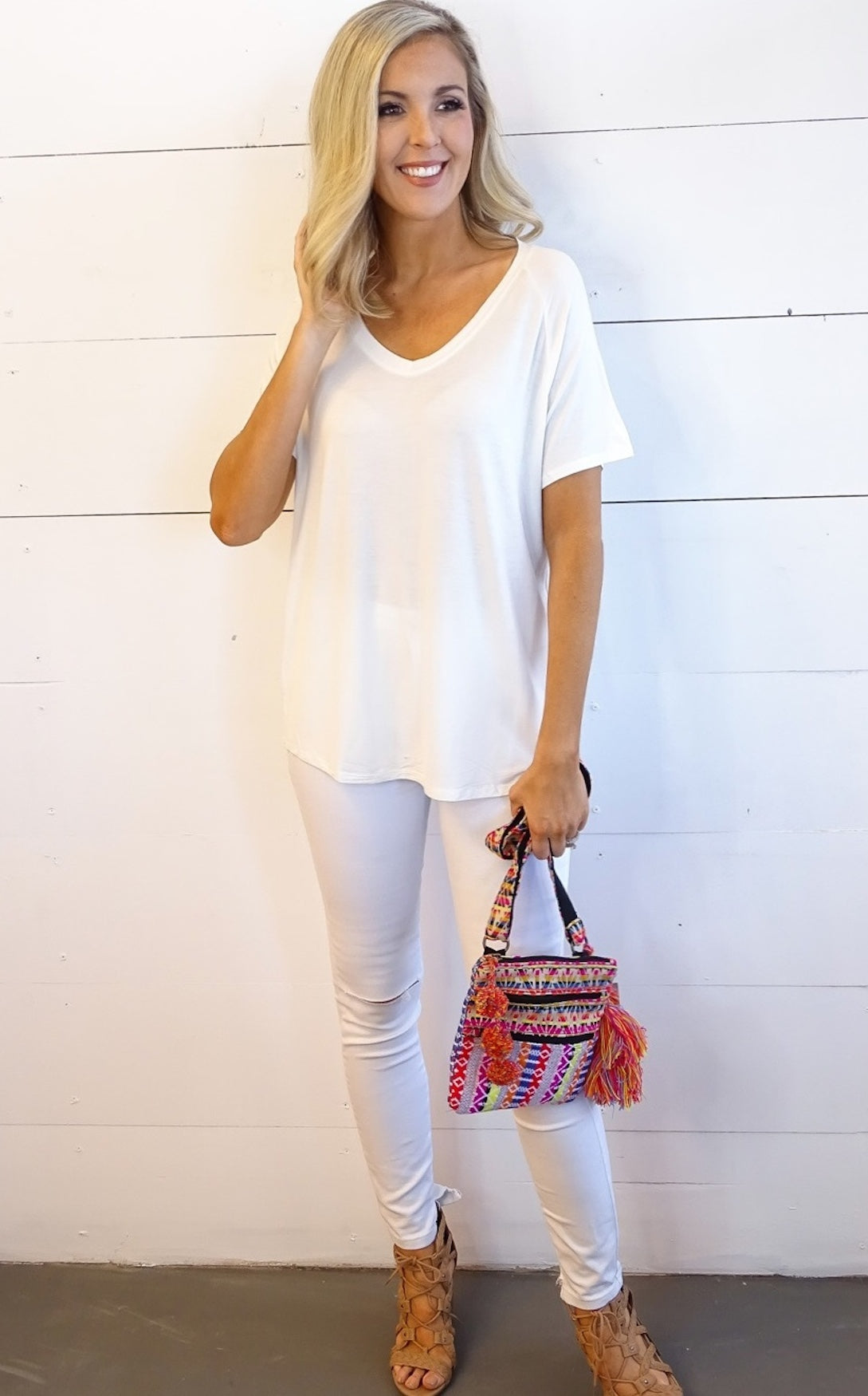 SLOUCH TEE - IVORY