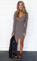OXANA DRESS - TAUPE