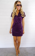 READING WRAP DRESS - PLUM