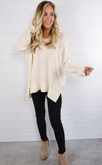 TAY OVERSIZED SWEATER - CREAM