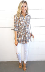 WILLA TWIST BUTTON DOWN