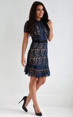 BRIG LACE DRESS - NAVY