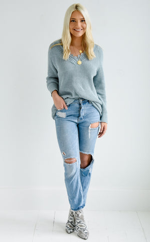 BROOKE LACE TRIM SWEATER de3b8afed