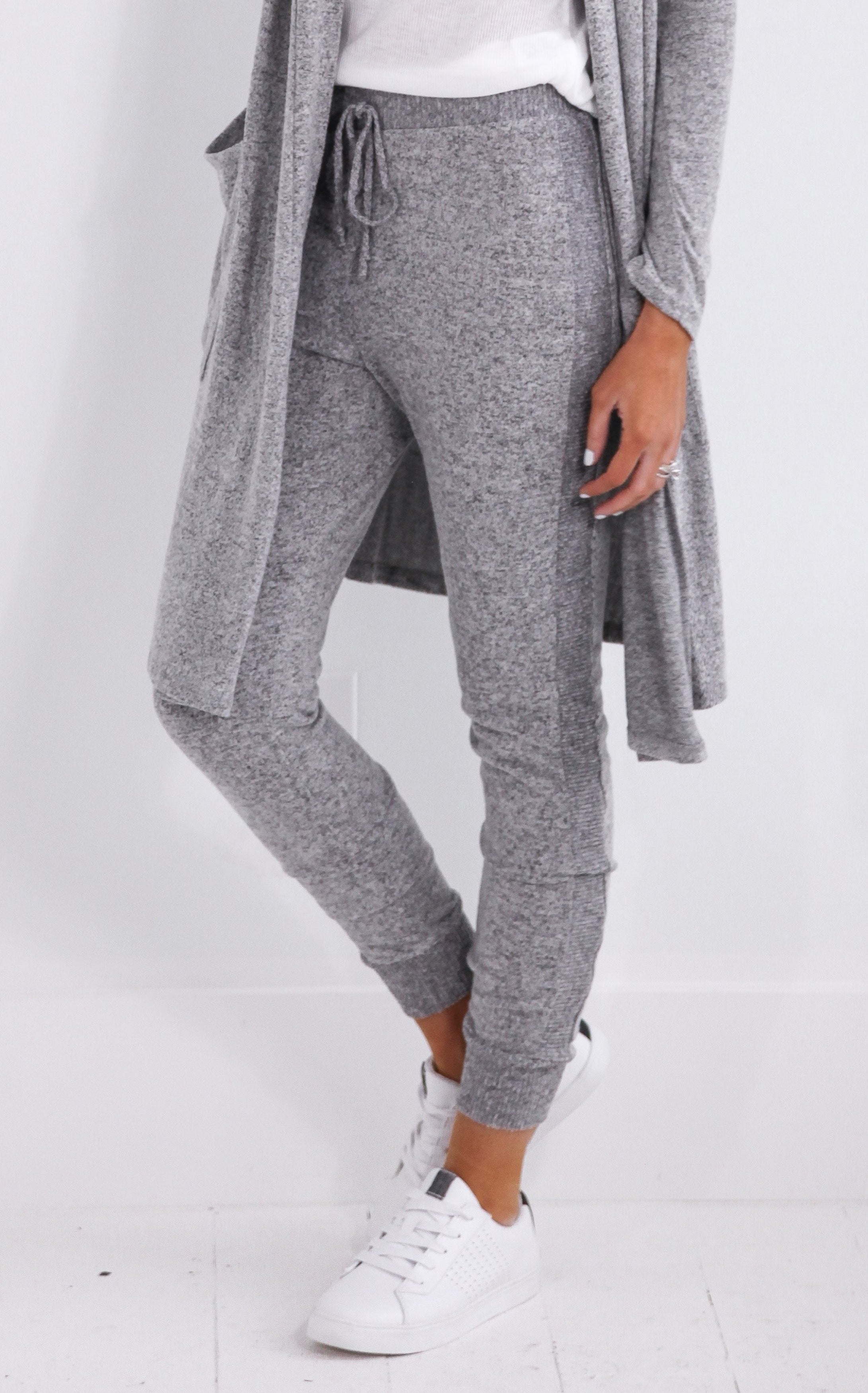 BRUSHED GREY JOGGERS