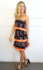 TIERED AZTEC DRESS