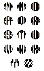 VINYL CHARGER MONOGRAM STICKER - BLACK