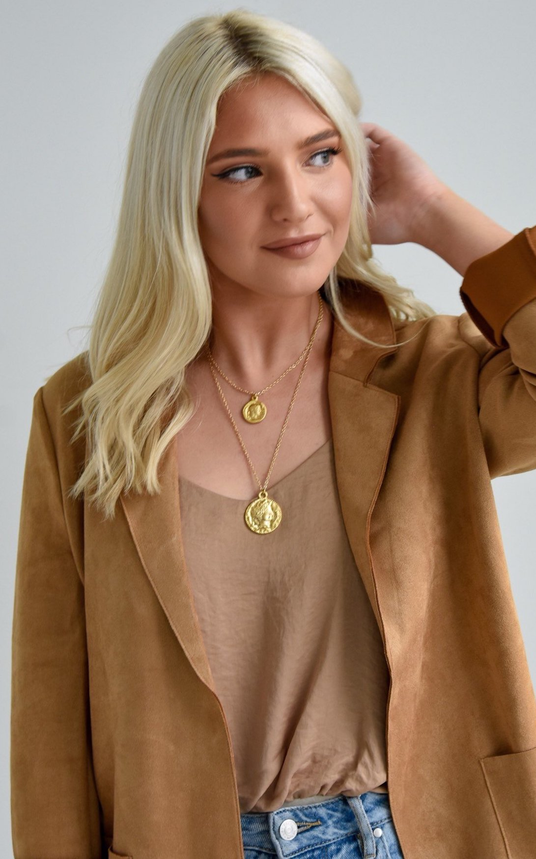 DOUBLE COIN NECKLACE by KELLIE RODE