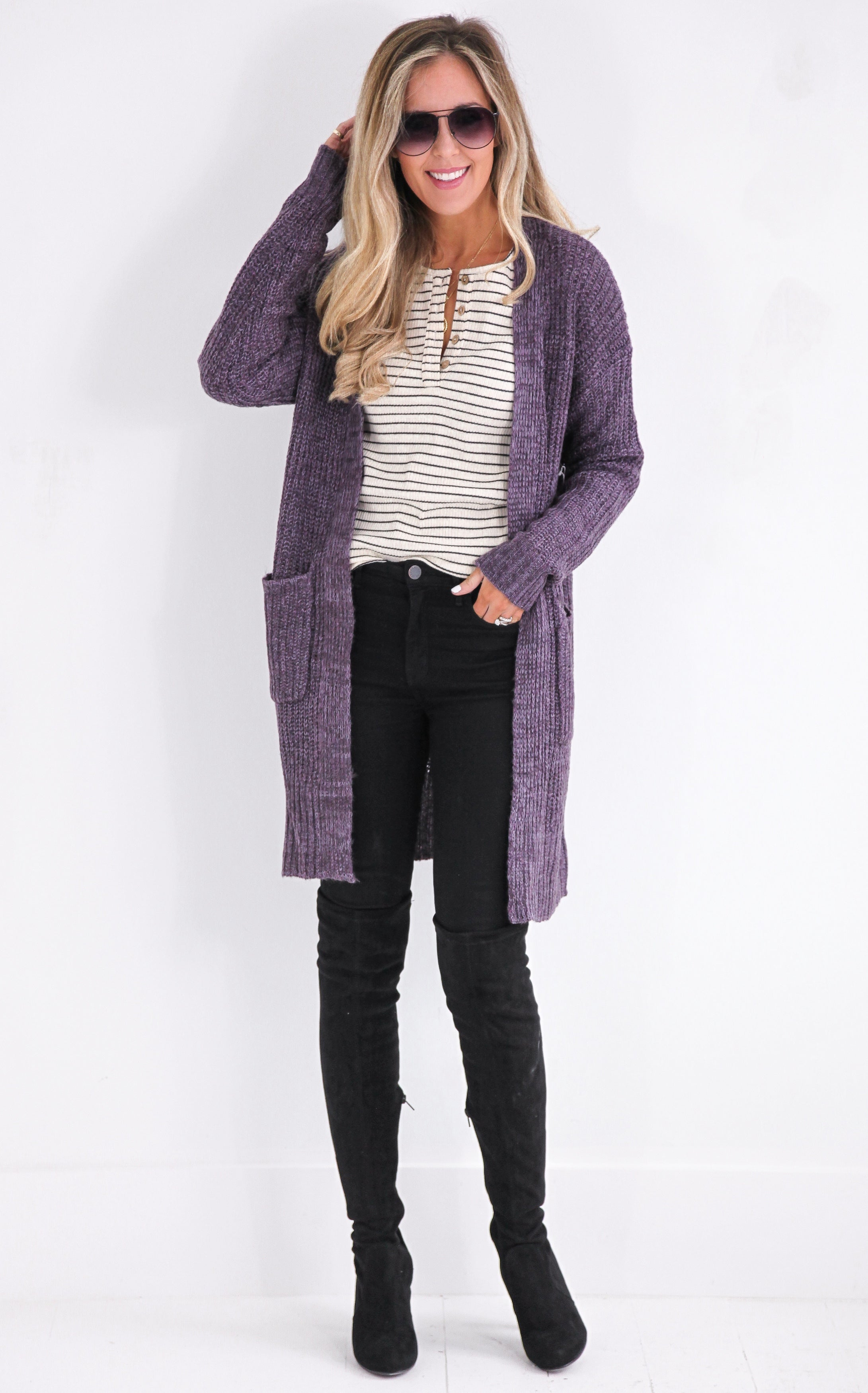 MANDI CARDIGAN - PURPLE