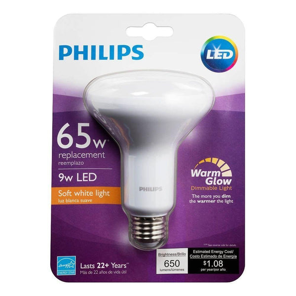 Philips 9w LED Warm/Soft White BR-30 (6-Pack) image 19496841861