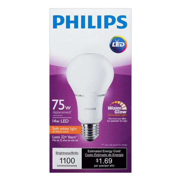 A21 Philips 14W Dimmable Warm White Indoor (6 Pack) image 19496836933