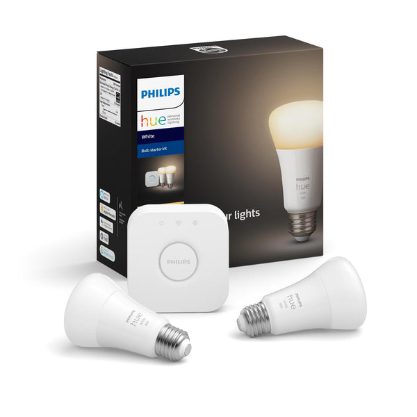 A19 Hue 9.5W White Dimmable Smart Wireless Lighting Starter Kit image 15182442823751