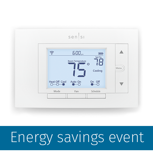 Sensi Programmable Wi Fi Thermostat Xcel Energy Store