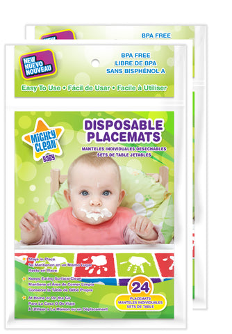 Mighty Clean Disposable Placemats (2 Count, 48 Placemats)