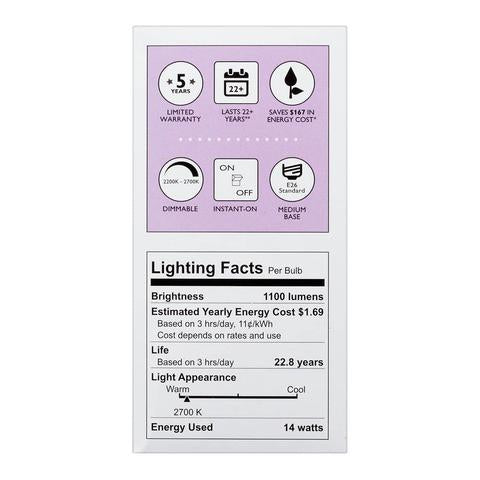 Philips 75-Watt Equivalent Soft White A-21 LED (6-Pack) image 24599841490