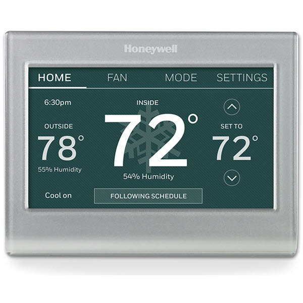 Honeywell Wi-Fi Color Touchscreen Programmable Thermostat + Peak Rewards Time of Use Enrollment image 5232321364037