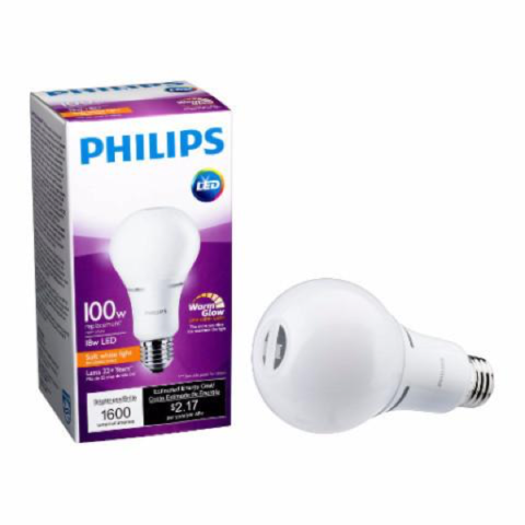 A21 Philips 16W Dimmable Warm White Indoor (6 Pack) image 24600113042