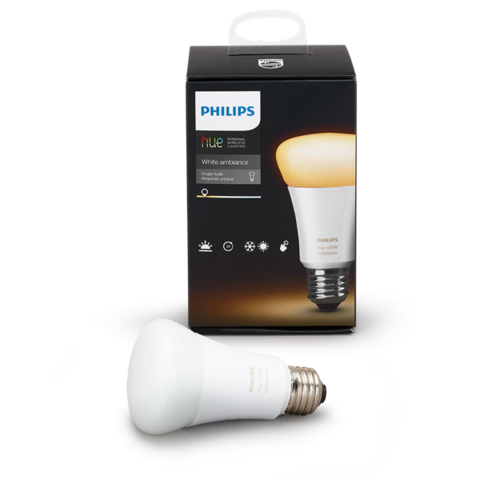 A19 Philips Hue 10W Dimmable White Ambiance Indoor (Single) image 24602859986