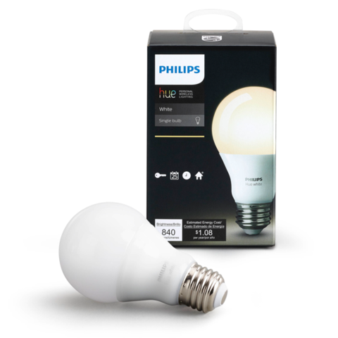 A19 Philips Hue Dimmable Warm White Indoor (Single) image 24602623314