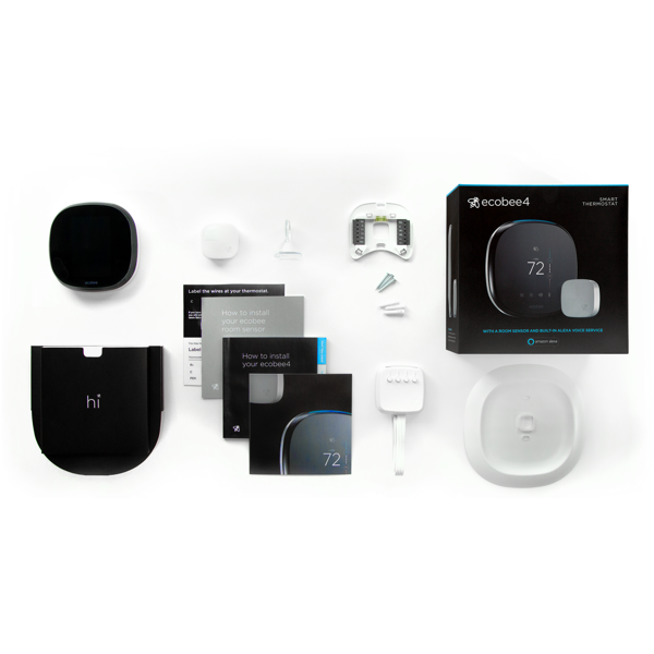 ECOBEE4 WI-FI THERMOSTAT W/ BUILT-IN ALEXA VOICE SERVICE image 20369855122
