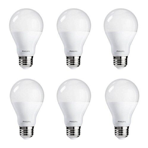 A19 Philips 9W Dimmable Warm White Indoor (6 Pack) image 24599350418