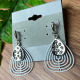 White and Silver Sweet Earrings
