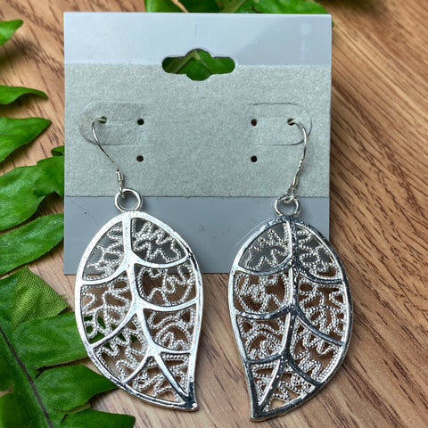 Fun Silver Leaf Earrings