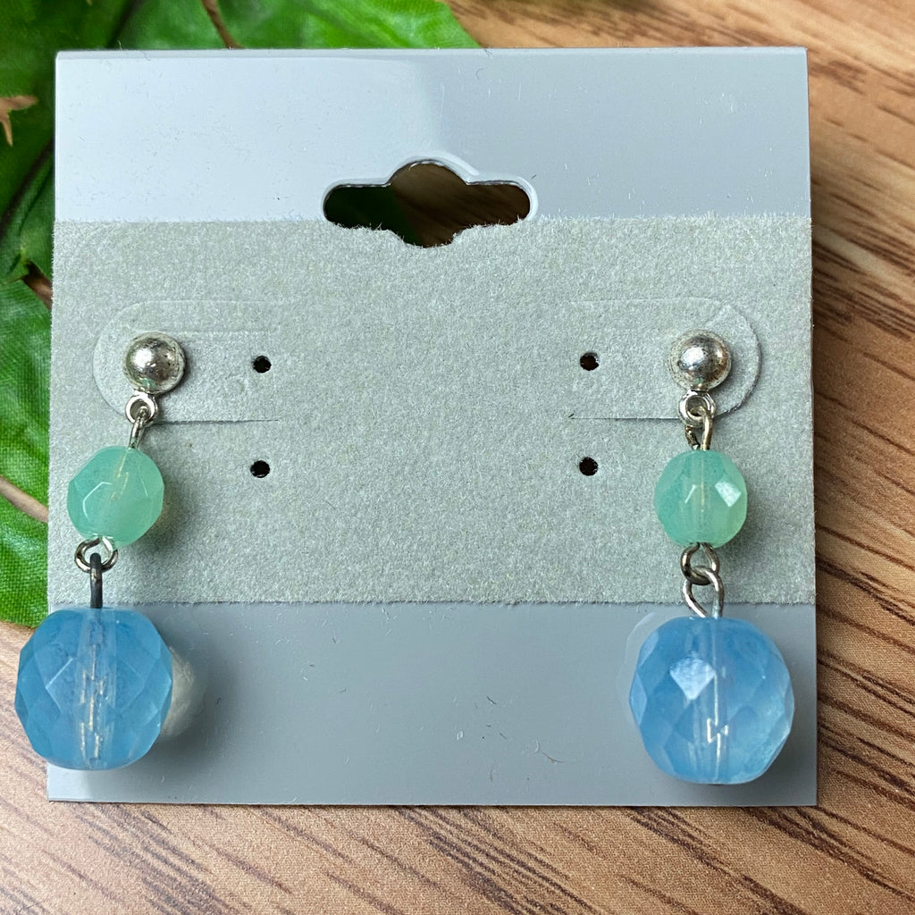 Sweet Blue and Green Earrings