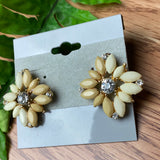 Tan Sparkle Stud Earrings