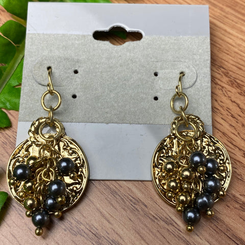 Fun Gray and Gold Earring