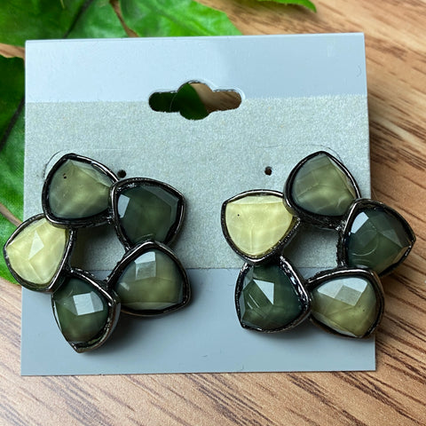 Shades of Gray Stud Earrings