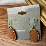 Sweet Peach and Gold Earrings