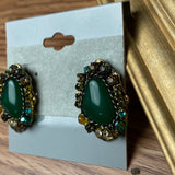 New Beautiful Green Stud Earrings