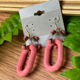 Unique Pink Large Earrings