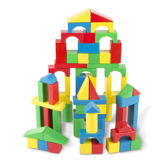 Melissa & Doug 100 Wood Block Set