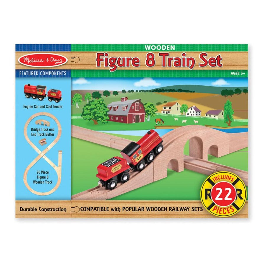 Melissa & Doug Figure 8 Train Set (22 Pcs)