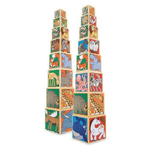 Melissa & Doug Wooden Animal Nesting Block