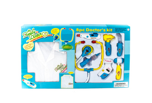 Electronic Doctor Set Blue W/Uniform 8 Piece