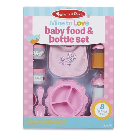 Melissa & Doug Mine to Love - Baby Food & Bottle Set