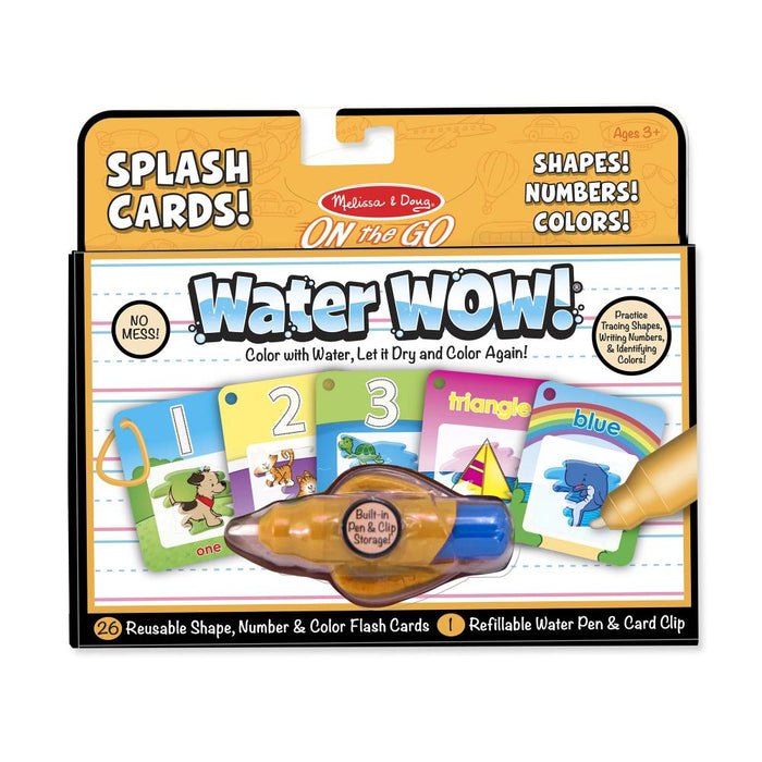 Melissa & Doug Water Wow Number Color Shape Cards On the Go Travel Activity