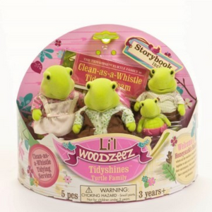 Li'L Woodzeez Turtle Family w/Book