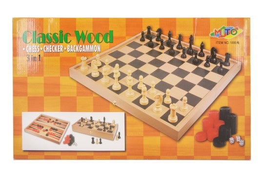 Wood Chess Game - Large